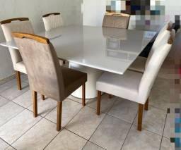 Mesa de jantar laka off white (Nova Lacrada) Madeira Maciça !!