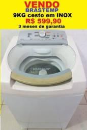 Máquina de Lavar 9Kg Brastemp Ative Cesto de Inox 127V