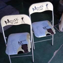 Cadeira Personalizada De Aço Ferro Dobrável para Bar Restaurante Casa Piscina
