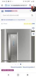 Refrigerador Electrolux TW42S Top Freezer com Dispenser de Água Platinum ? 382L