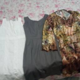 3 vestido novos tamanho p e m 2 na etiqueta por 50