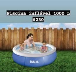 Piscina inflável de 1000L