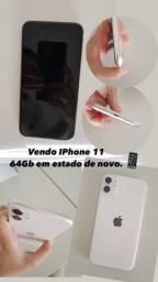 iPhone 11 64 GB em estado de novo