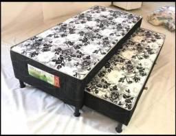 Cama box solteiro com cama auxiliar