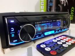 Som automotivo carro radio bluetooth atende ligação usb pen drive cartão aux radio FM