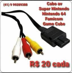 Cabo Av Super Nintendo N64