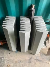 Pingadeiras de concreto para muro 19x80 cm