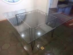 Tampo de vidro quadrado para mesa jantar