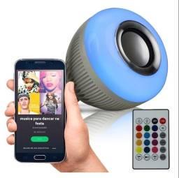 Lâmpada Bulbo LED Musical Caixa de Som Bluetooth 12W