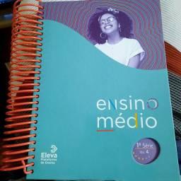 Livro de estudo, referente ao  1° ANO E.M. do COLÉGIO APOGEU NO ANO DE 2020