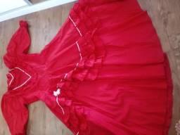 Vestido de Prenda vermelho