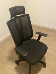 Cadeira Addit Presidente Tela Com Encosto De Cabec