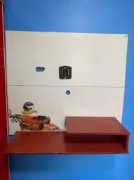 Painel TV Hot Wheels + Baú de Brinquedos Hot Wheels