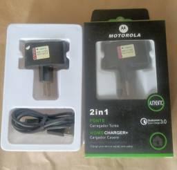 Carregador turbo Motorola V8 e Type C (aceito cartão)