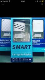 CAREGADOR TURBO V8 COM 2 USB