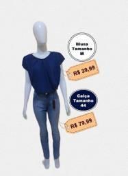 Blusas apartir de 29.99cada,calça jeans 79.99