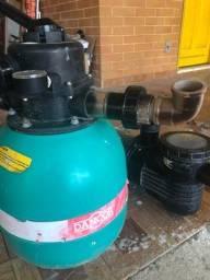 Filtro e bomba para piscina seminovos