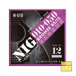 Encordoamento Violão 12 Cordas Aço NIG N510 .010