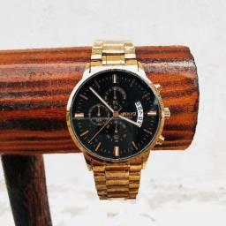 Relógio Nibosi Dourado Resistente