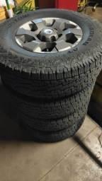 Rodas aro 16 com pneus pra vender hoje .