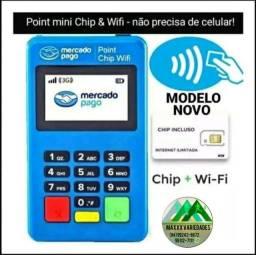 Maquina de cartão com chip e Wi-Fi