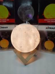 Lua Cheia 3d Led Abajur Luminária 12cm Lampada + Suporte(,fazemos entregas)