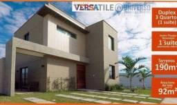 Condomínio Versatile Dúplex de 3 - quartos sendo um suite, ja colocado pisos porcelanato,