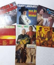 Coleção de 7 Discos Vinil- Sertanejo