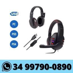 Fone Headset Gamer Knup com Leds