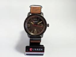 Relógio Masculino Curren Marrom e Preto