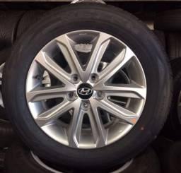 Rodas Hyndai Elantra 2015/2016/2017 originais+pneus Nexen 205/60/16