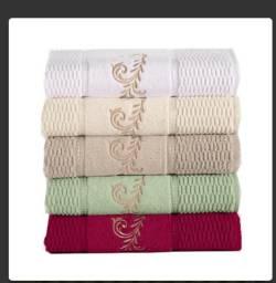 Jogo de toalha de Banho 5 pecas(verde)