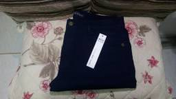 Calça Skinny Preto/Azul Petróleo/Branca (Multimarcas)