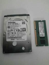 Hd 500 gb memória DDR 3 4gb