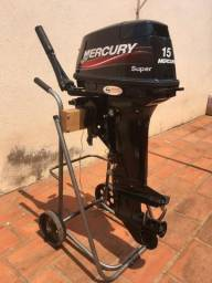 Vendo Motor De Popa Mercury 15 Hp Super Ano 2015