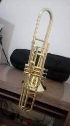 Trombone de Pistos Weril F610 Curto em dó - Laqueado Zerado - Aceito trocas / Parcelo 12x,