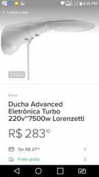 Vendo chuveiro adevanced lorenzetii turbo eletronico