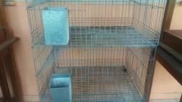 Gaiola usada para coelhos