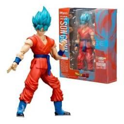 Boneco Articulado Goku Deus Ssj Blue Dragon Ball Super