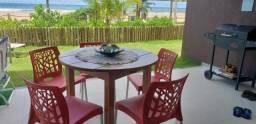 3/4 com suite, pé na areia à venda, 105 m² por r$ 1.100.000 - imbassai - mata de são joão/