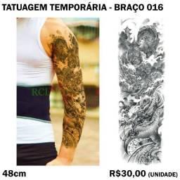 Tatuagem de Braço Temporária - Até 2 Semanas