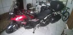Honda CB 500X estradeira equipada