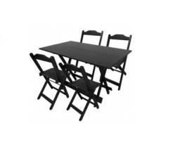 Mesa 1,20x0,70 Com 4 Cadeiras Kit Promocional