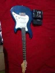 Guitarra strimberg e pedaleira