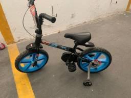 Bicicleta infantil aro 12 liga da justiça