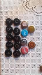 Lote de 16 tampinhas novinhas sem uso da cervejaria Backer