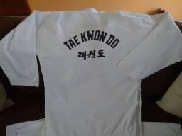 Dobok - kimono tae kwon do gola branca - tamanho 3