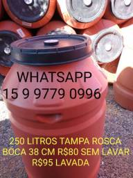 Boca Grande 250 Litros Tambor Bombona Barrica Container IBC CaixaTonel