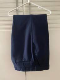 Calça Alfaiataria Marinho, marca Garbo, tamanho corresponde ao 46, sem uso