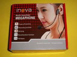 Megafone multifuncional Inova , com 3 meses de garantia